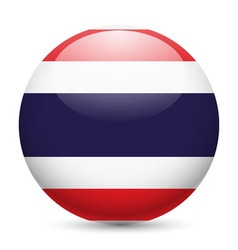 Round glossy icon of thailand vector