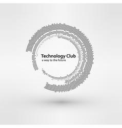 Set of White Abstract Halftone Circles Logo vector image