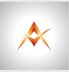 shining 3d letter a symbol image vector image