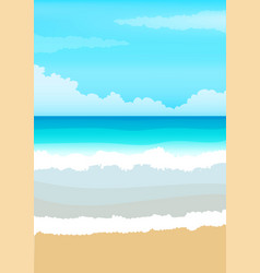 shiny sun seascape blur vector image