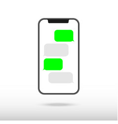 smartphone black chatting sms app template vector image