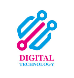 Technology biotechnology hi tech icon and symbol vector