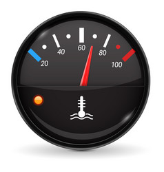 Temperature car gauge black device vector
