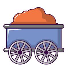 Train wagon icon cartoon style vector