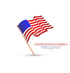 usa flag stars and stripes united states of vector image