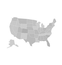 usa state map usa state map vector image