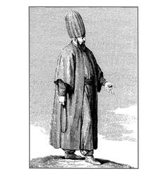 vintage engraving a bekri vector image