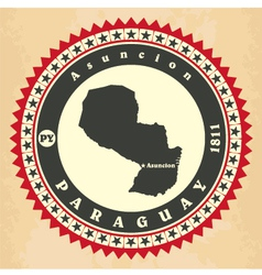 Vintage label-sticker cards of Paraguay vector