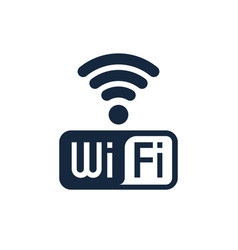 wifi icon design with text isolated vector image