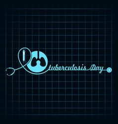 World tuberculosis day vector