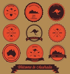 Australia Label Design vector image