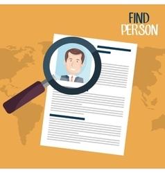 find person design vector image vector image