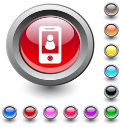 Person round button vector image