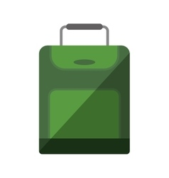 green suitcase travel equipment shadow vector image