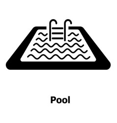 pool icon simple black style vector image