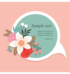 speech bubble with flowers vector image vector image