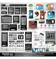 website tabs vector image