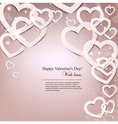 Gift card Valentines Day background vector image vector image