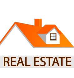 House roof logo vector image vector image
