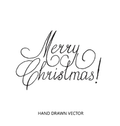 Merry christmas lettering set hand drawn vector image vector image