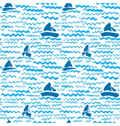 Artistic ink background on marine theme vector