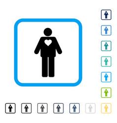 Groom framed icon vector