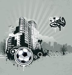Grunge urban soccer background vector image vector image