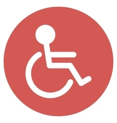 Handicapped Flat Round Icon vector image