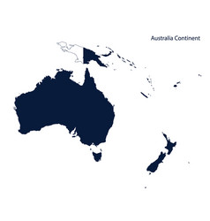 map of australia and oceania continent vector image