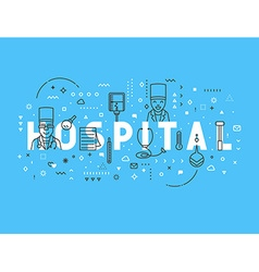 Medicine concept design hospital vector image