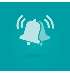 Notifications call icon with ringing bells vector image vector image