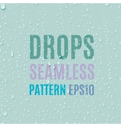 Set of water transparent drops seamless pattern vector image