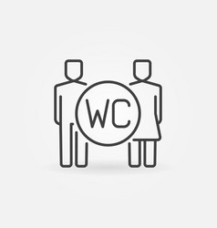 wc line icon vector image vector image
