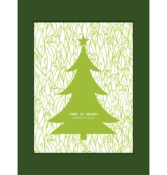 Abstract swirls texture christmas tree silhouette vector