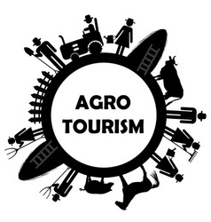 agro tourism icon vector image