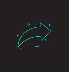 arrow icon direction left vector image