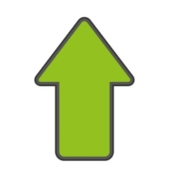 arrow up upload index vector image
