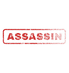 Assassin rubber stamp vector