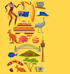 Australia seamless pattern australian traditional vector