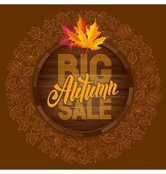 Autumn sale 09 01 vector image vector image