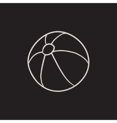 Ball sketch icon vector image