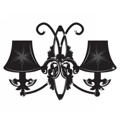 Baroque elegant rich wall lamp vector
