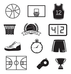 Basketball Icons Set vector
