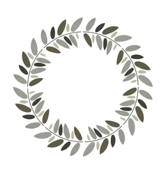 Beautiful leaves ornament vector