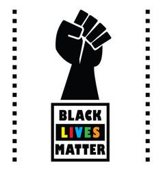 Black lives matter square message emblem vector