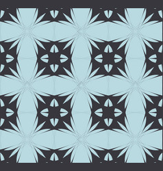 blue black mosaic pattern modern contrast vector image