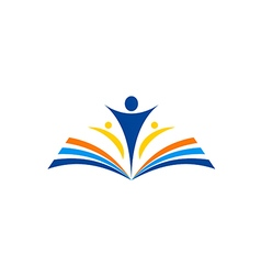 Book learn education school logo vector