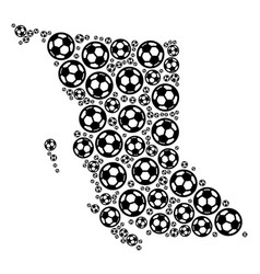 British columbia province map collage of soccer vector
