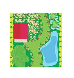 Cartoon garden design vector