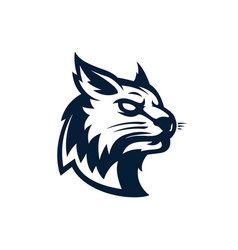cat head logowild emblem design vector image